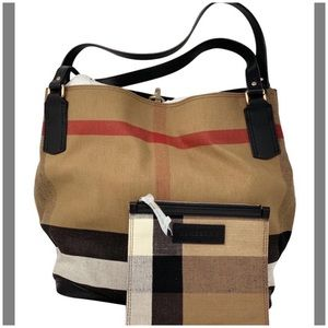 Burberry canvas tote handbag brand new